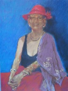 pastel portrait by sue hill