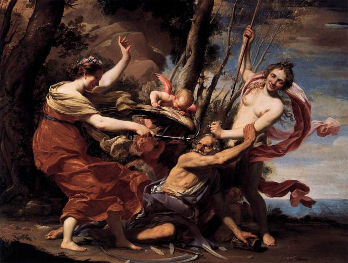 Vouet,_Simon_-_Father_Time_Overcome_by_Love,_Hope_and_Beauty_-_1627