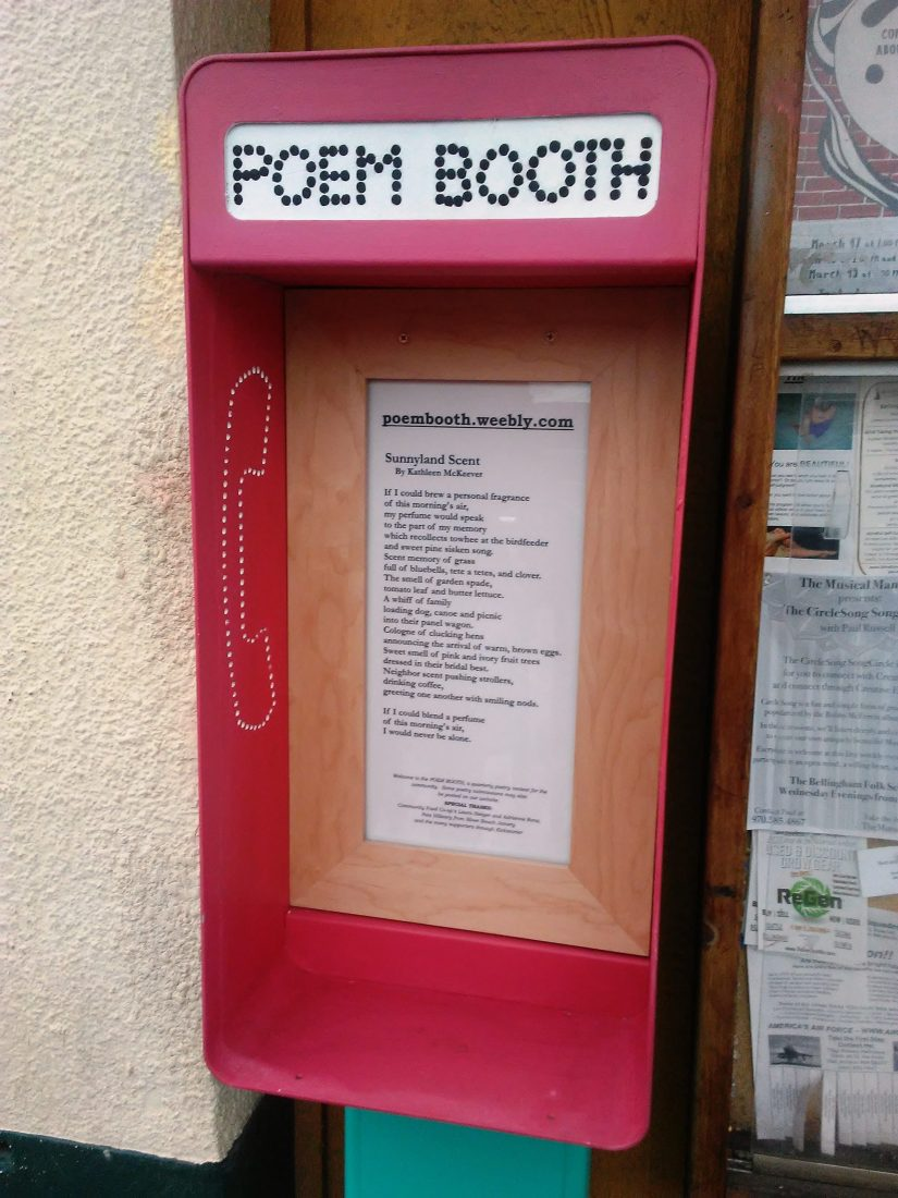 "March ""Poem Booth"" Space Awarded"