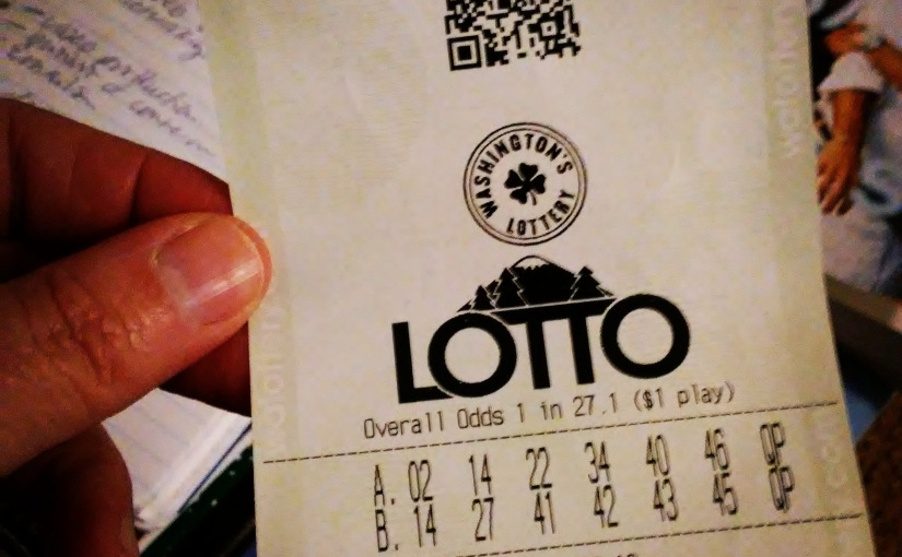 Ode to Frayed Lotto Ticket
